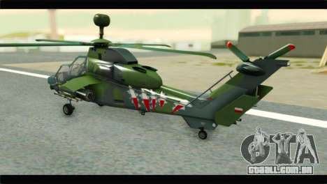 Eurocopter Tiger Polish Air Force para GTA San Andreas esquerda vista