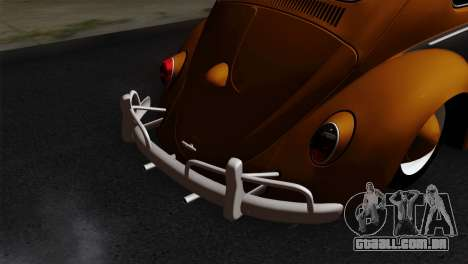 Volkswagen Beetle 1969 para GTA San Andreas vista traseira