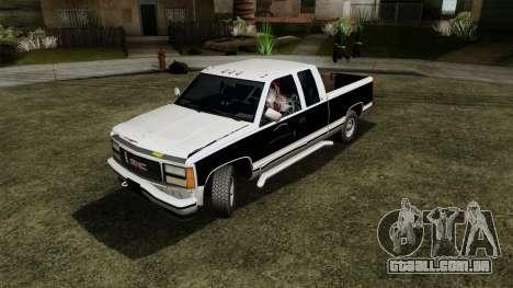 GMC Sierra 2500 1992 Extended Cab Final para GTA San Andreas vista traseira