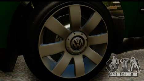 Volkswagen Passat B5 para GTA San Andreas vista traseira