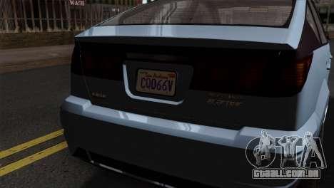 GTA 5 Karin Dilettante SA Mobile para GTA San Andreas vista direita