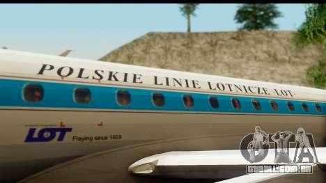 Embraer 175 PLL LOT Retro para GTA San Andreas vista interior