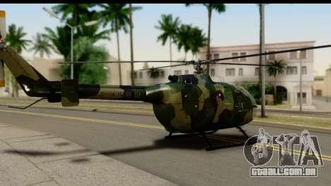 MBB Bo-105 Army para GTA San Andreas esquerda vista