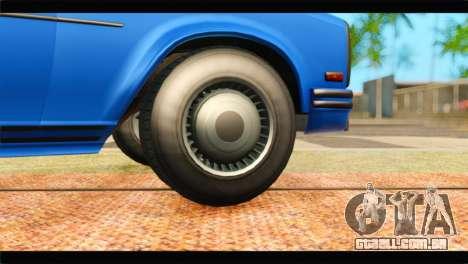GTA 5 Benefactor Glendale Special para GTA San Andreas traseira esquerda vista