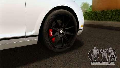 Bentley Continental SS 2010 para GTA San Andreas traseira esquerda vista