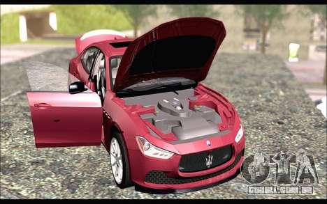 Maserati Ghibli 2014 para GTA San Andreas vista direita