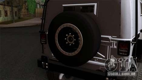Jeep Wrangler 2013 Fast & Furious Edition para GTA San Andreas vista traseira