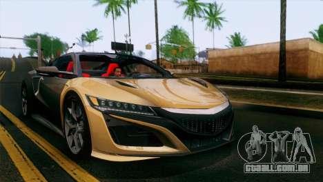 Nissan GT-R para GTA San Andreas vista superior