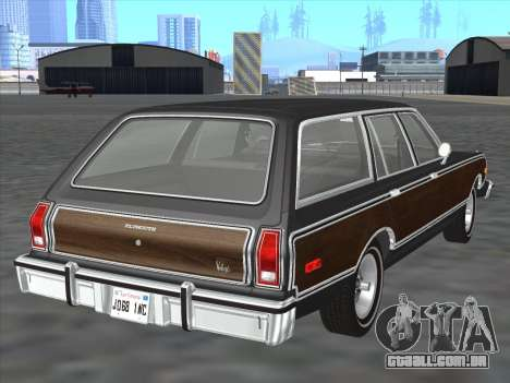Plymouth Volare Wagon 1976 wood para GTA San Andreas vista direita