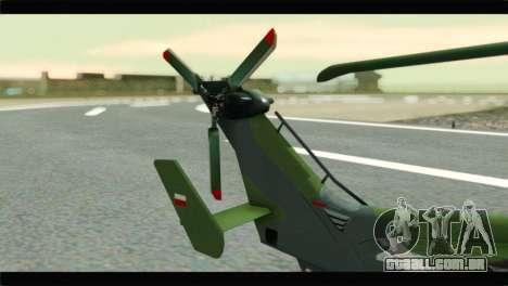 Eurocopter Tiger Polish Air Force para GTA San Andreas traseira esquerda vista