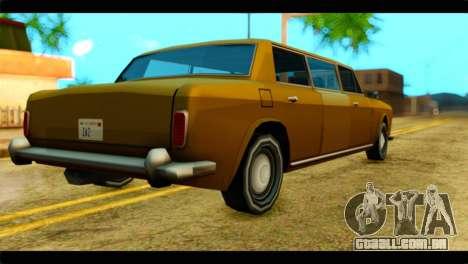 Stafford Limousine para GTA San Andreas esquerda vista