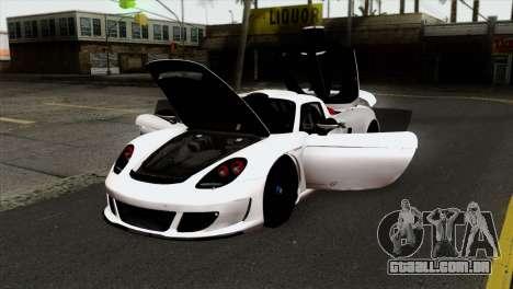 Gemballa Mirage GT v2 Windows Up para GTA San Andreas vista traseira