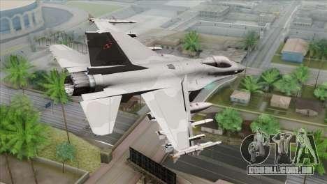 F-16C Jastrzab para GTA San Andreas esquerda vista