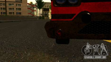 GTA 5 Declasse Tornado Worn IVF para GTA San Andreas vista traseira