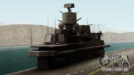 Admiral Kuznetsov Class para GTA San Andreas vista traseira