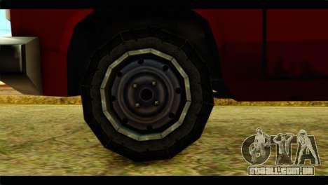Bobcat Technical Pickup para GTA San Andreas traseira esquerda vista