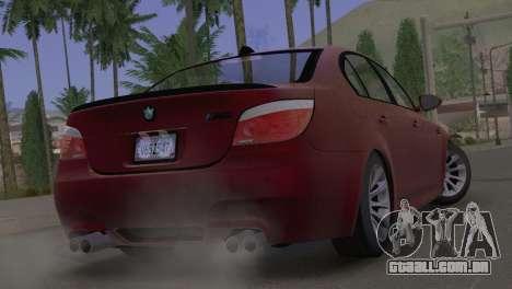 BMW M5 E60 2009 Stock para GTA San Andreas esquerda vista