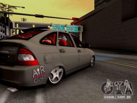 ВАЗ 2172 (Lada Priora) para GTA San Andreas traseira esquerda vista