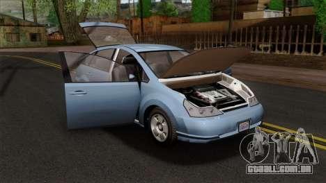 GTA 5 Karin Dilettante SA Mobile para GTA San Andreas vista traseira