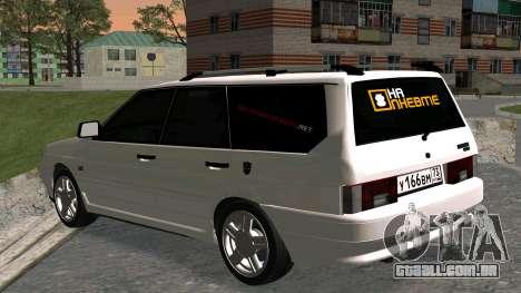 2115 Universal БПАN para GTA San Andreas traseira esquerda vista
