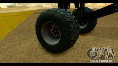 Monster Regina para GTA San Andreas traseira esquerda vista