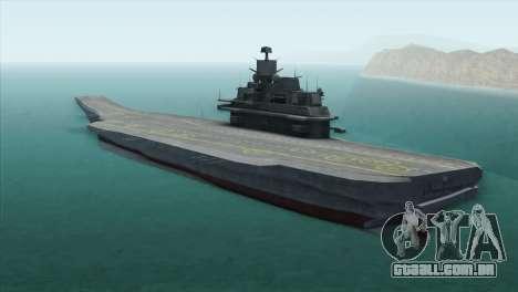 Admiral Kuznetsov Class para GTA San Andreas esquerda vista