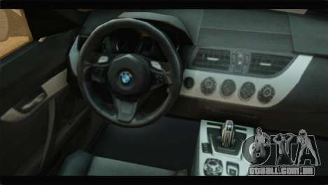 BMW Z4 sDrive35is 2011 para GTA San Andreas vista direita