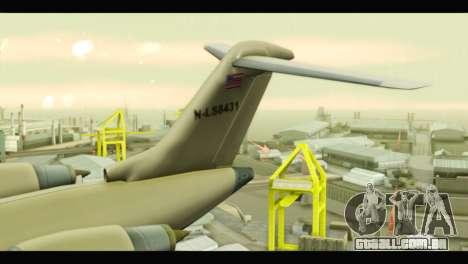GTA 5 Buckingham Miljet Update para GTA San Andreas traseira esquerda vista