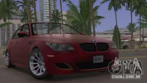 BMW M5 E60 2009 Stock para GTA San Andreas