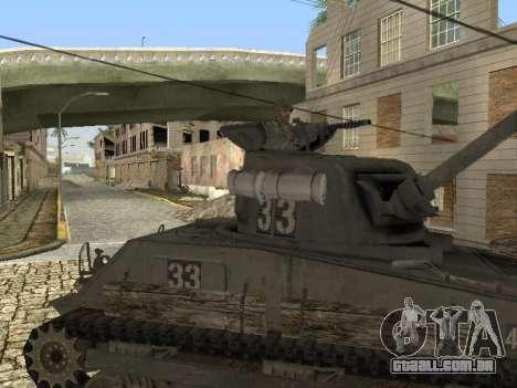 O Tanque M4 Sherman para GTA San Andreas esquerda vista