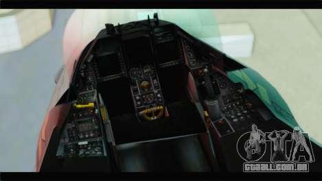 F-16C Hellenic Air Force para GTA San Andreas vista traseira