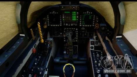 FA-18D VFA-103 Jolly Rogers para GTA San Andreas vista traseira