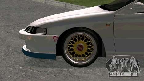 Honda Integra Type R 2000 para GTA San Andreas vista traseira