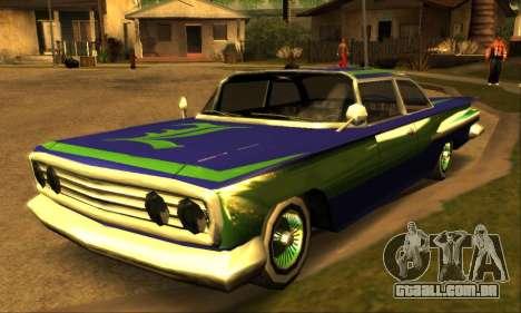 Luni Voodoo para GTA San Andreas traseira esquerda vista
