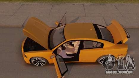 Dodge Charger SRT8 2012 Stock Version para GTA San Andreas vista interior