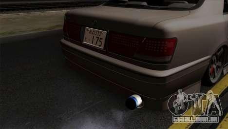 Toyota Crown para GTA San Andreas vista traseira