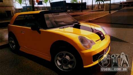 GTA 5 Weeny Issi para GTA San Andreas traseira esquerda vista