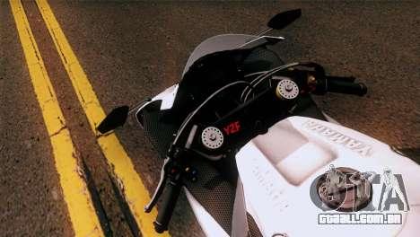 Yamaha YZF-R1 para GTA San Andreas traseira esquerda vista
