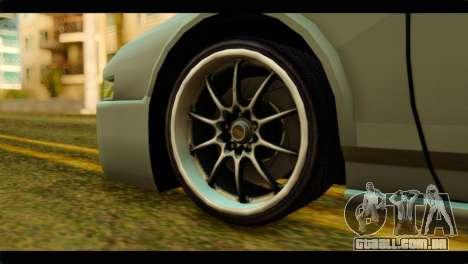 Infernus Rapide S para GTA San Andreas traseira esquerda vista