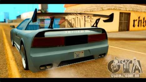 Infernus Rapide GTS Stock para GTA San Andreas vista traseira