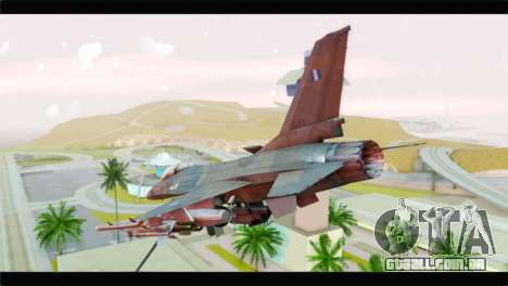 F-16C Hellenic Air Force para GTA San Andreas esquerda vista