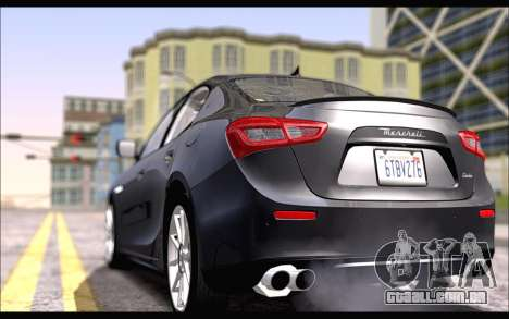 Maserati Ghibli 2014 para GTA San Andreas esquerda vista