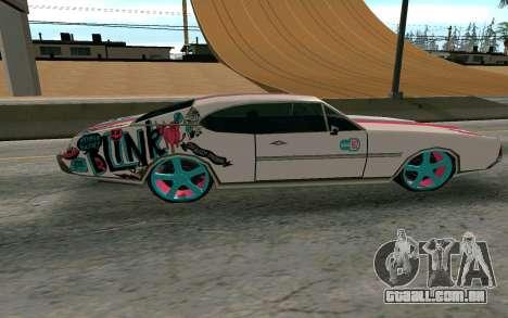 Clover Blink-182 Edition para GTA San Andreas esquerda vista