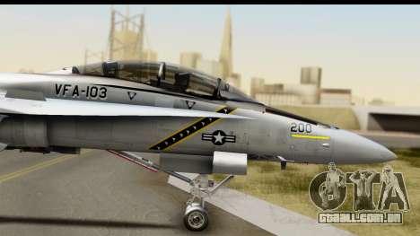 FA-18D VFA-103 Jolly Rogers para GTA San Andreas traseira esquerda vista