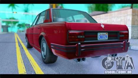 GTA 5 Benefactor Glendale Special IVF para GTA San Andreas esquerda vista
