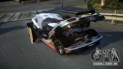 Koenigsegg Agera Polish Highway Patrol Police para GTA 4 vista lateral