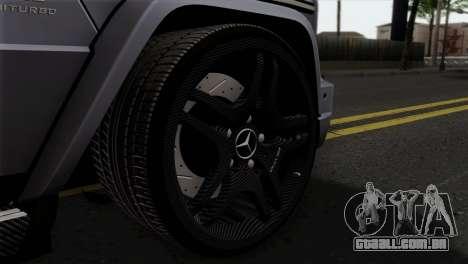 Mercedes-Benz G65 AMG Carbon Edition para GTA San Andreas traseira esquerda vista