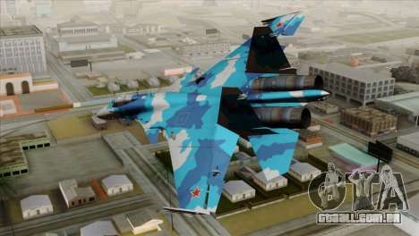 SU-33 Flanker-D Blue Camo para GTA San Andreas esquerda vista