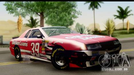 Elegy NASCAR para GTA San Andreas vista traseira