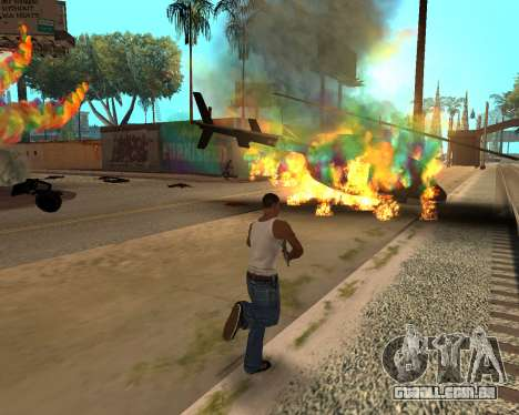 Rainbow Effects para GTA San Andreas quinto tela